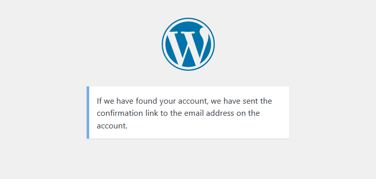 New WordPress password reset message by WP Cerber