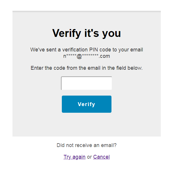 Two-Factor Authentication form