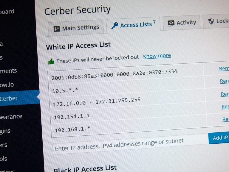 Using IP Access Lists to limit access and protect WordPress