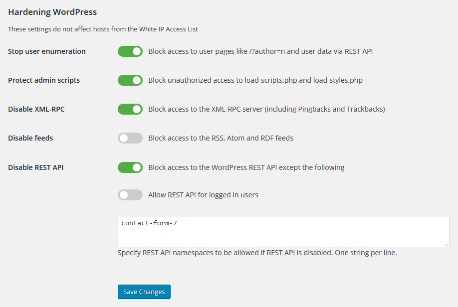 Enable access to Contact Form 7 if WordPress REST API disabled